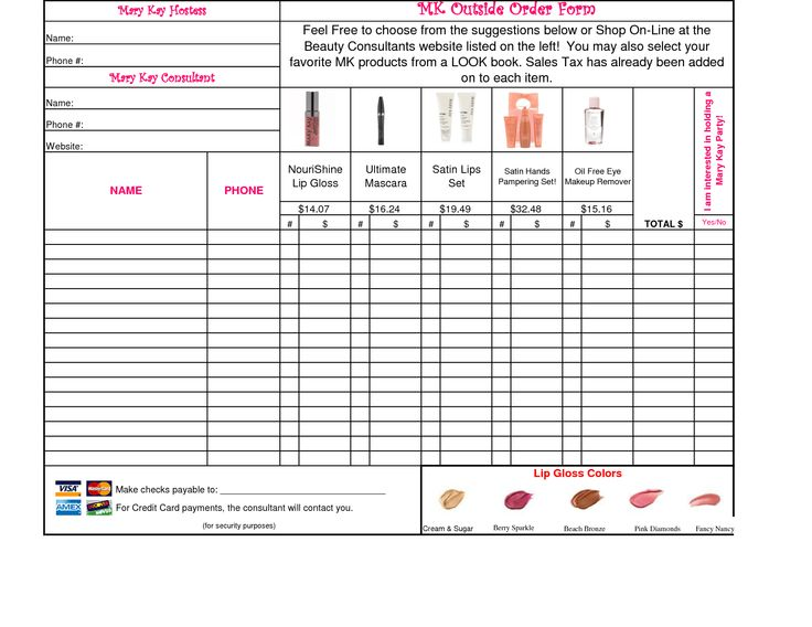 Fundraiser Template Form Order Scentsy