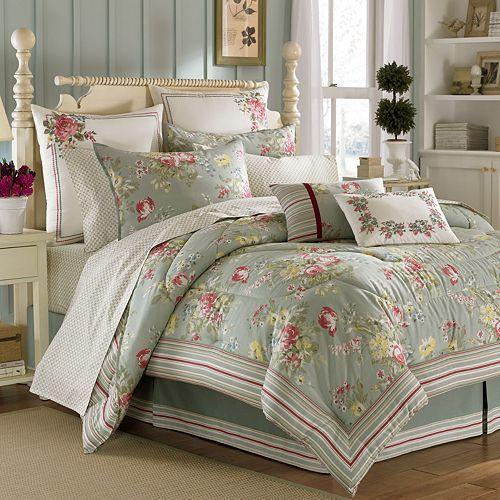 Laura Ashley Eloise 4 Pc Comforter Set Queen Shabby