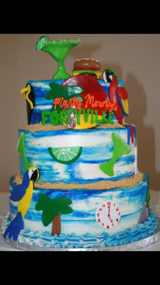 Jimmy Buffet Cake My Cakes Pinterest Buffet Cake