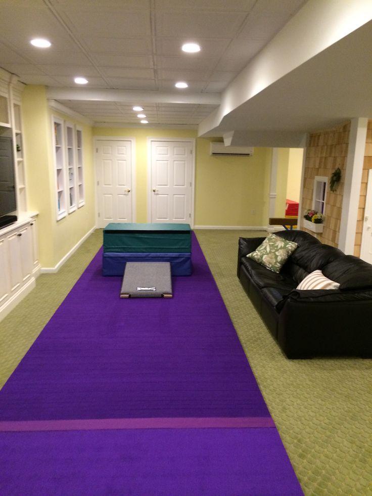 Indoor Gymnastics Area Also Pinning For Basement