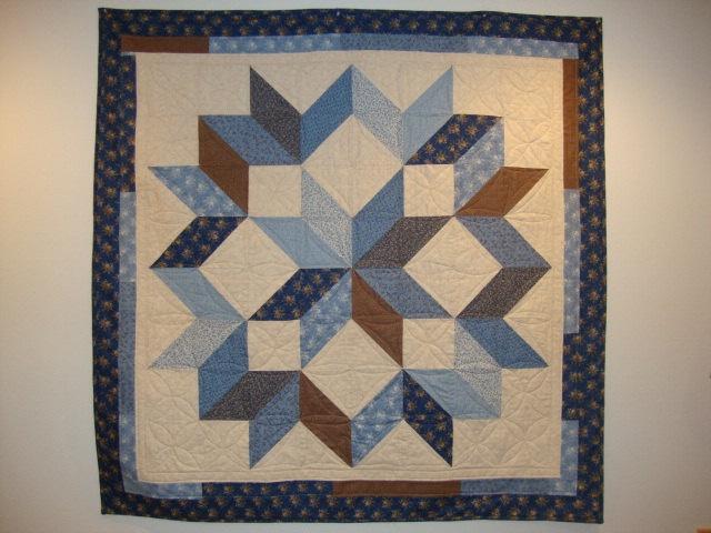 Carpenters Wheel Pattern Quilt Block
