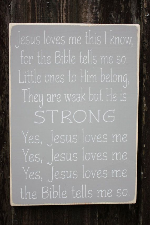 Tells Loves Yes Jesus So Me Me Bible
