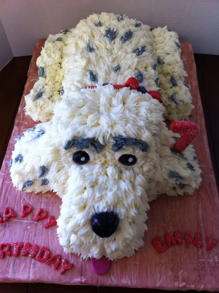 Marble Cake With Buttercream Frosting Birthday Puppy Cake