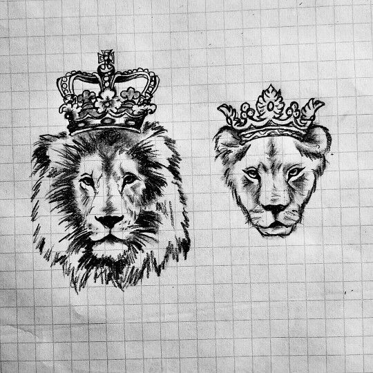 Lion Stencil Crown