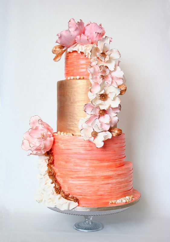 Coral Colored Wedding Napkins