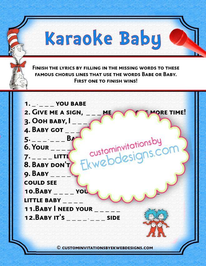 Printable Karaoke Invitations