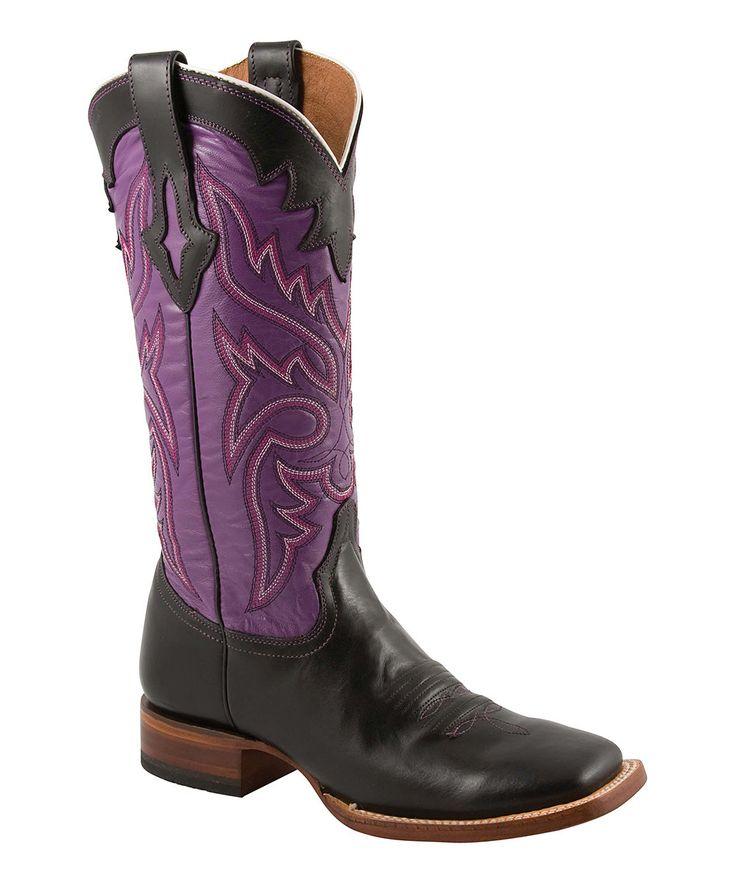 Purple Corral Inlay Boot
