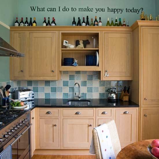 Blue Egg Duck Wallsdark Cabinets Brown
