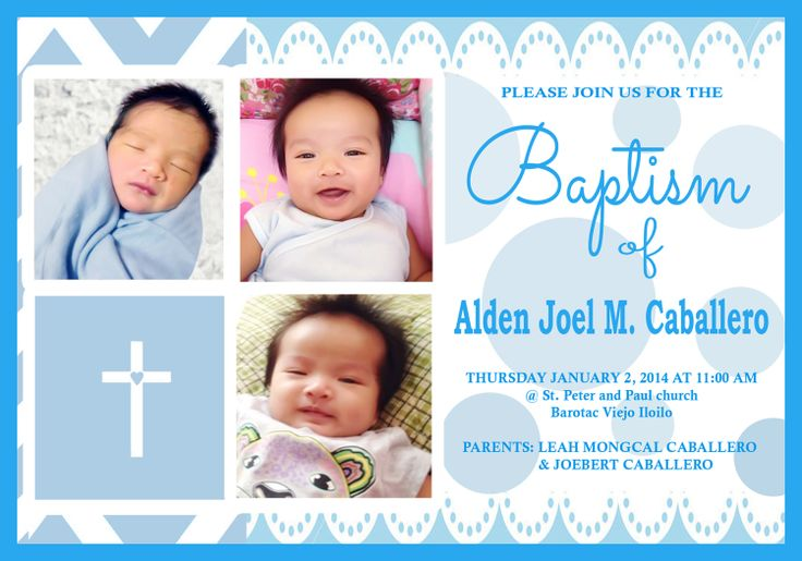 Christening Invitation Design Baby Boy