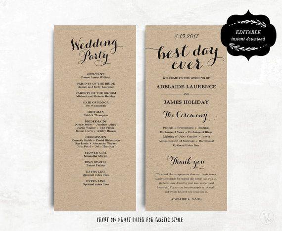Affordable Wedding Programs