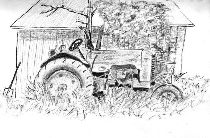 Black And White Antique Truck Clip Art