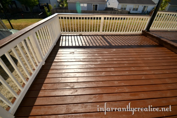 Staining A Deck Stains The White And Decks