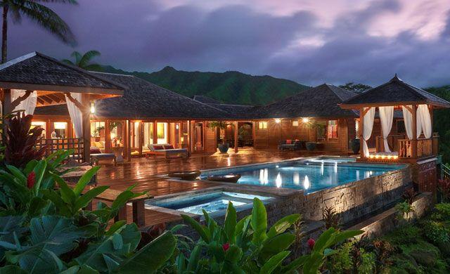 Luxury Hawaii Plans House Tropical