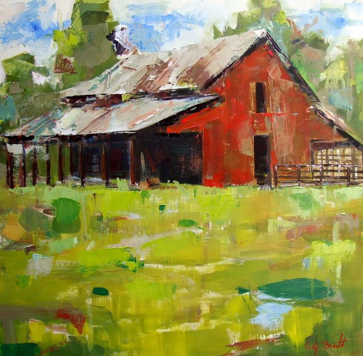 Barns Farm Landscape Painting