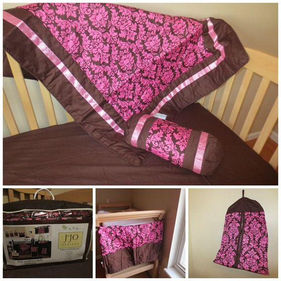 Pink And Brown Comforter Toddlers