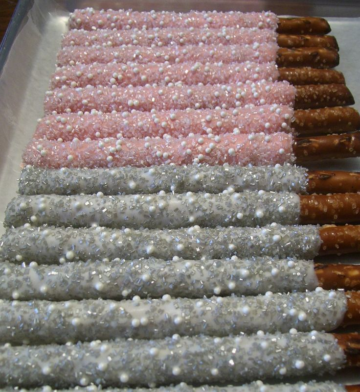 Pink Chocolate Dipped Pretzel Rods