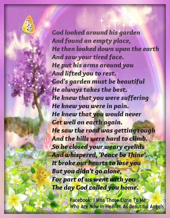God's Garden Poem | God looked around his garden ...