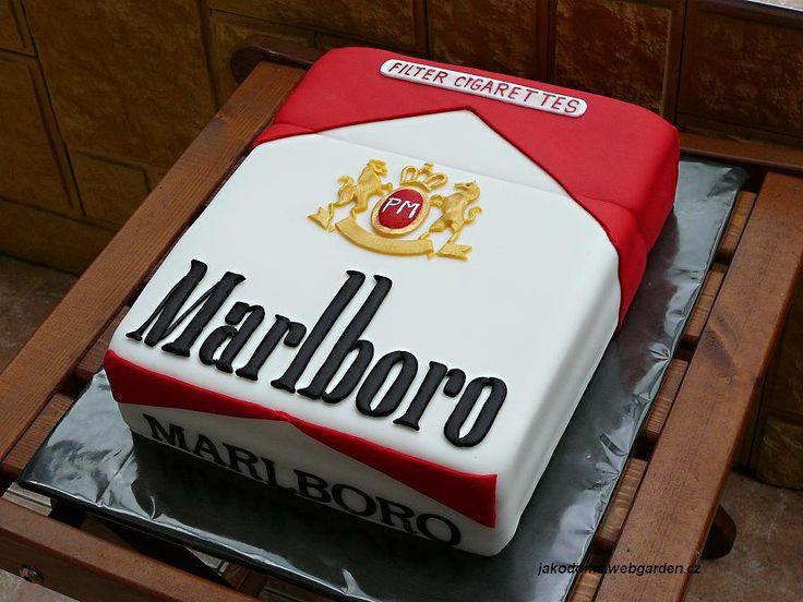 Cigarette Cake Marlboro Theme Cakes Pinterest Cakes