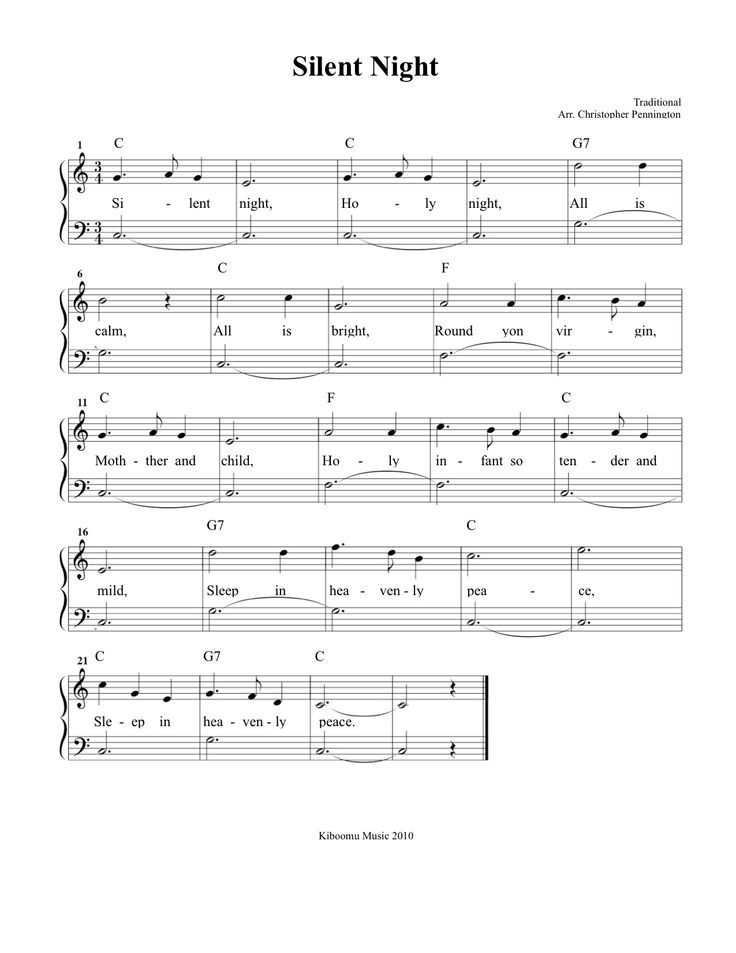Violin Chords For Silent Night Very Easy