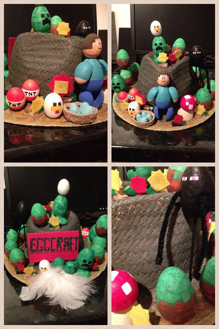 My Minecraft Eggcraft Easter Bonnet By Alexandra Kevlin