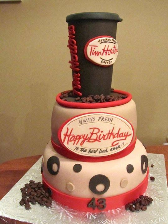 Tim Horton S Coffee Cup Cake Novelty Cakes Pinterest