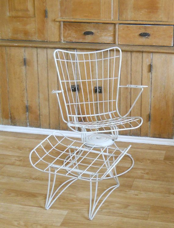 Vintage Homecrest Chair And Ottoman Mid Century Patio Wire
