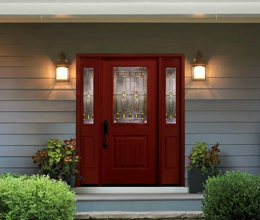 Painted Door With Sidelights No Trim Work For The