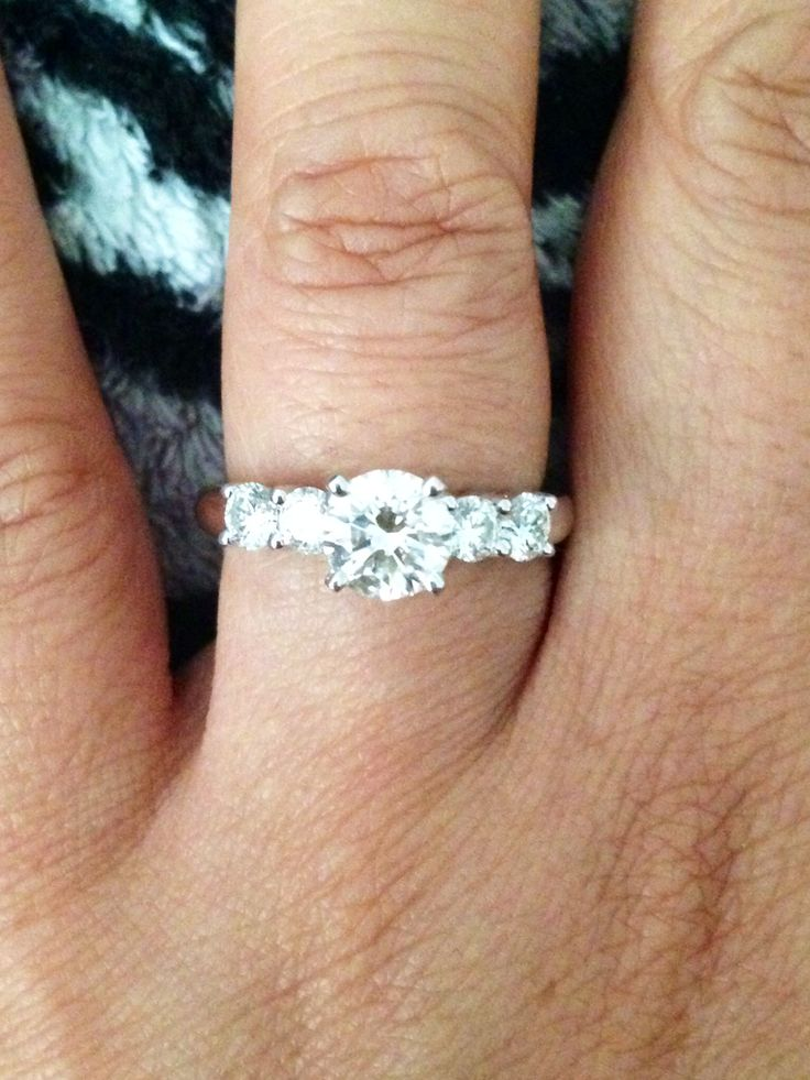 My Five Stone Engagement Ring ️ Engagement Rings Amp Wedding Bands Pinterest Stones