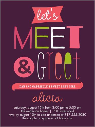 Invitation Shower Brunch Baby Wording