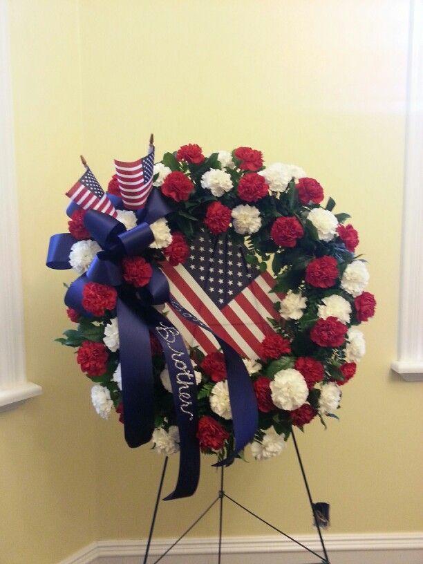 Blue Vase Flowers Cemetery Arrangements