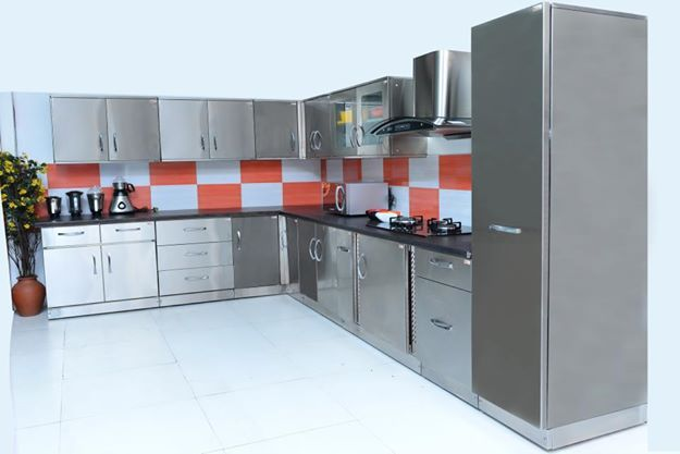 L Shaped Indian Modular Kitchen Designs
