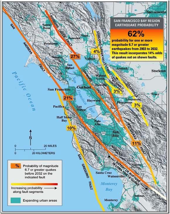 Napa Map West Line Fault