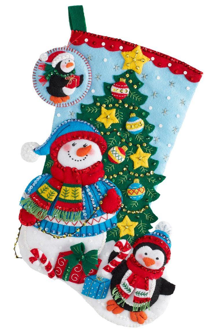 2012 Kits New Felt Bucilla Stocking