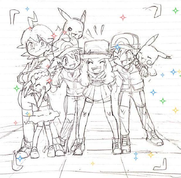 Pokemon Trainer Coloring Pages Bonnie