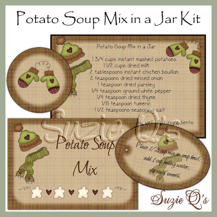 Mason Jar Soup Mix Gift