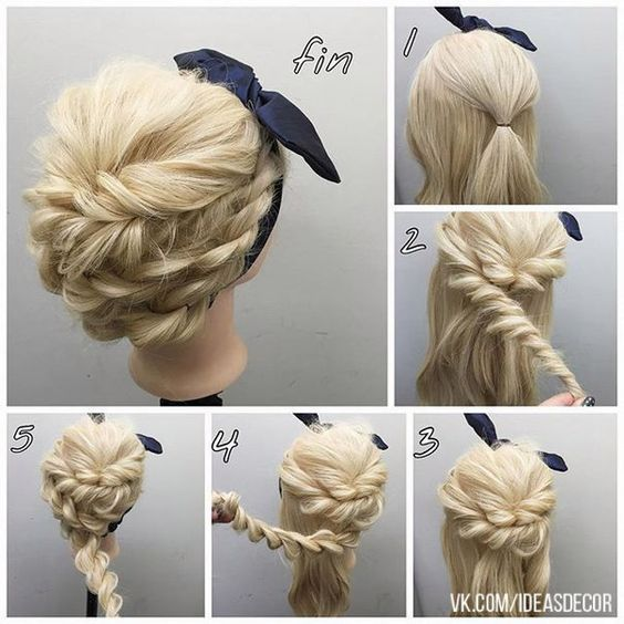 Easy Hairstyles For Long Hair Step By Step For School Page 1