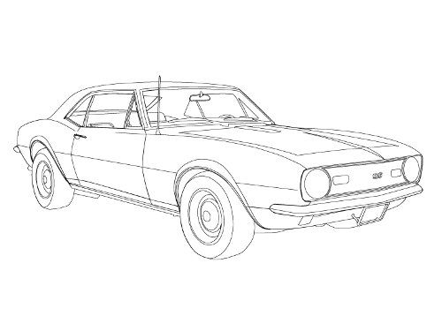 Chevelle Ss 1966 Coloring Page