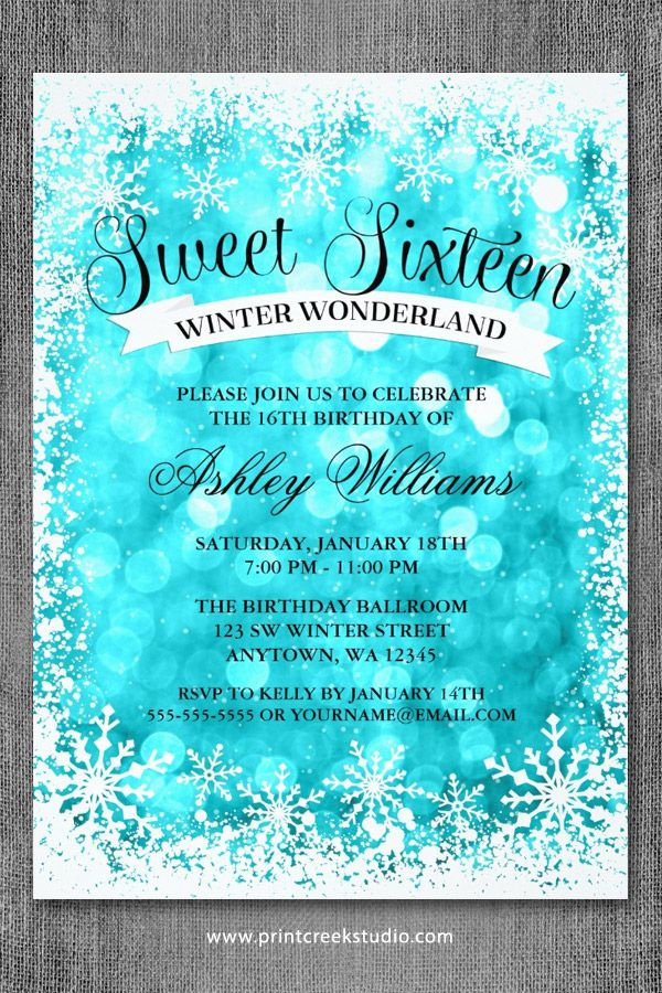 Snowflake Invitations Pinterest