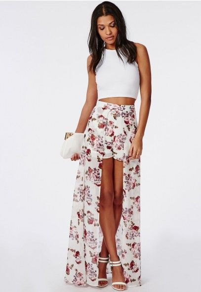Floral Dress Shorts Attached