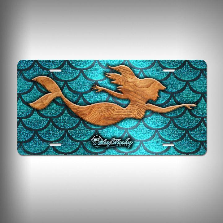Mermaid Monogram Frame Black