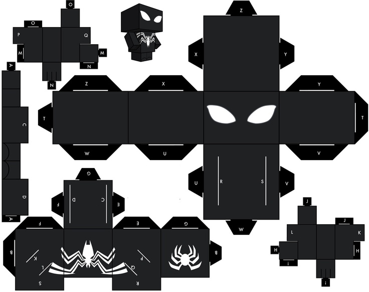 Man Spider Papercraft Minecraft Amazing