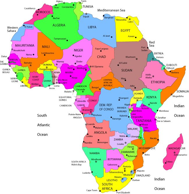 How Many Countries Are South Africa