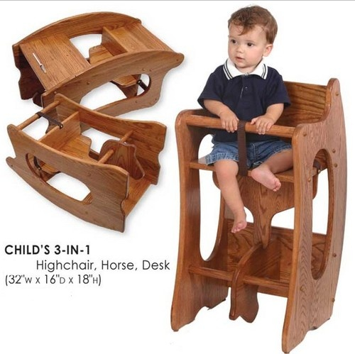 Amish Furniture 3 1 Highchair
