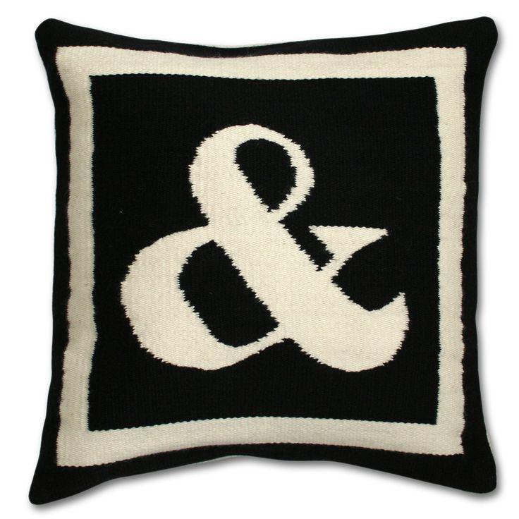 Anagram Black And White Pillows