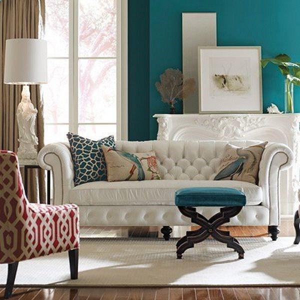 Turquoise Velvet Accent Chair