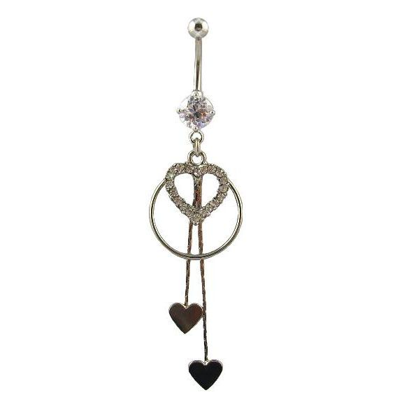 Nail Head Belly Button Ring