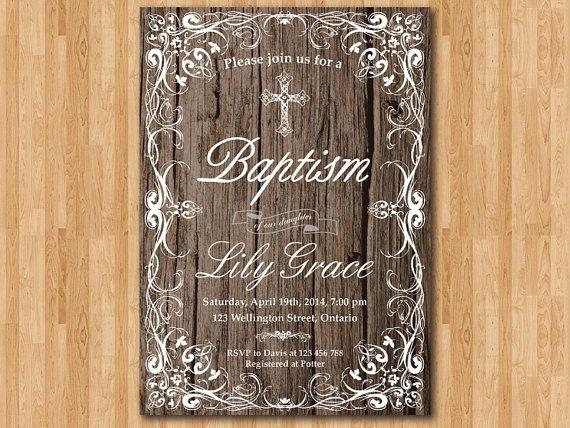 Baby Boy Invitations Baptism