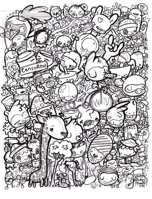 Free Doodle Art Coloring Pages - Coloring Home | 670x514