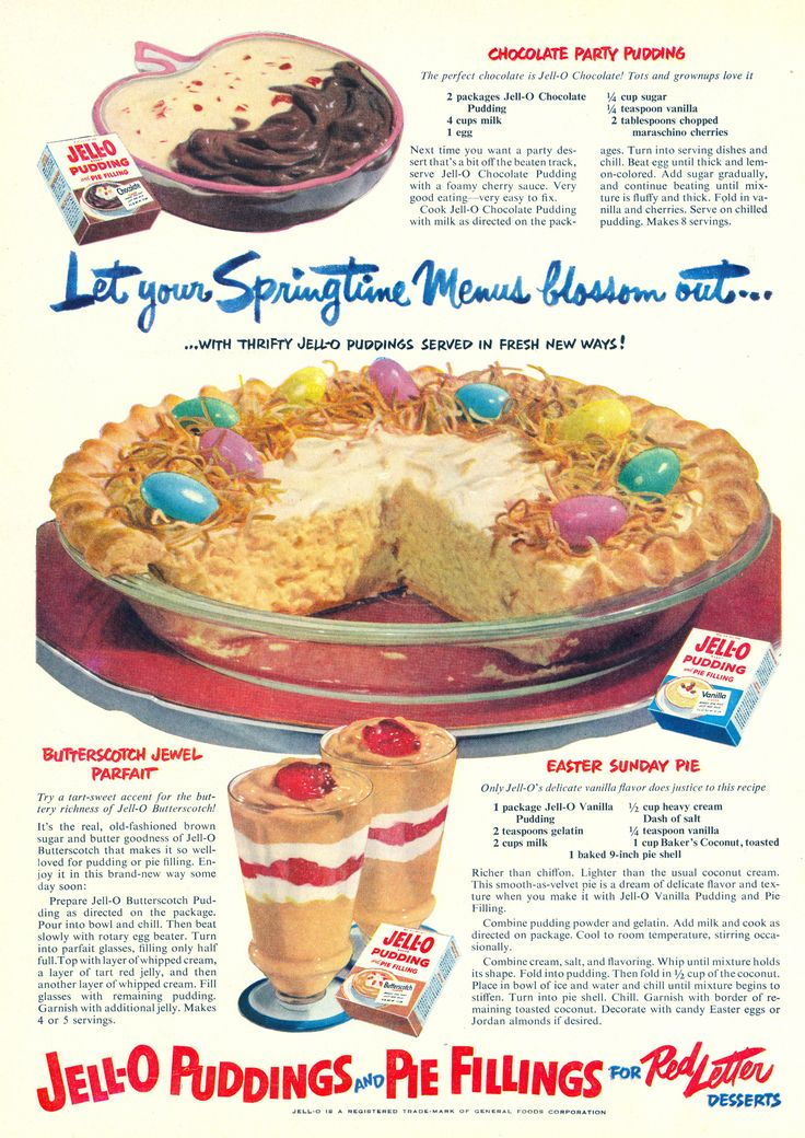 1950s Old Fashioned Desserts