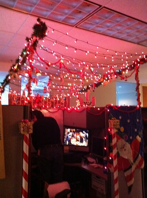 Christmas Office Cubicle Decorating Small Ideas